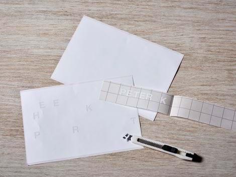 Folienbuchstaben & Ziffern Blatt