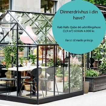 Dinnerdrivhus i egen have? Juliana sælger Halls Qube 66 udstillingshusene fra København