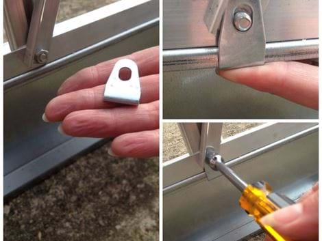 aluminium base clips