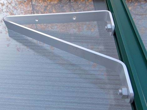 Aluminium shelf brackets